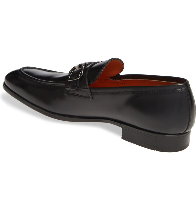 SANTONI Indra Bit Loafer, Main, color, BLACK
