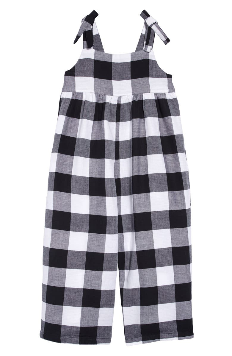 STEM Gingham Check Organic Cotton Jumpsuit, Main, color, 100