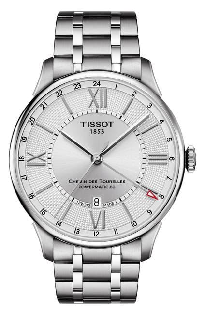 Image of Tissot Men's Chemin des Tourelles Swiss Automatic Bracelet Watch, 42mm