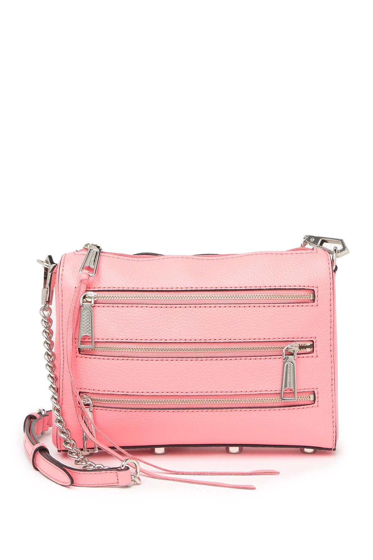 Image of Rebecca Minkoff Mini 5 Zip Leather Crossbody Bag
