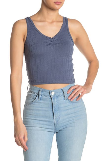 Image of Cotton On The Pointelle Ruche Tank Top
