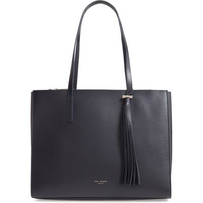 Ted Baker London Large Narissa Leather Tote - Blue
