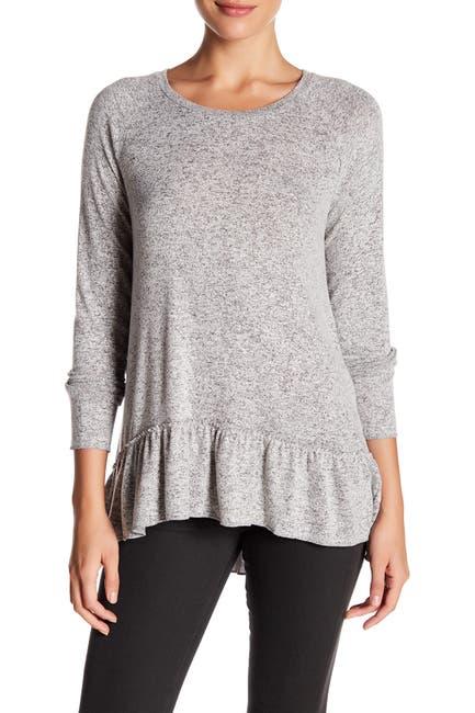 Image of SUSINA Fleece Hi-Lo Sweater