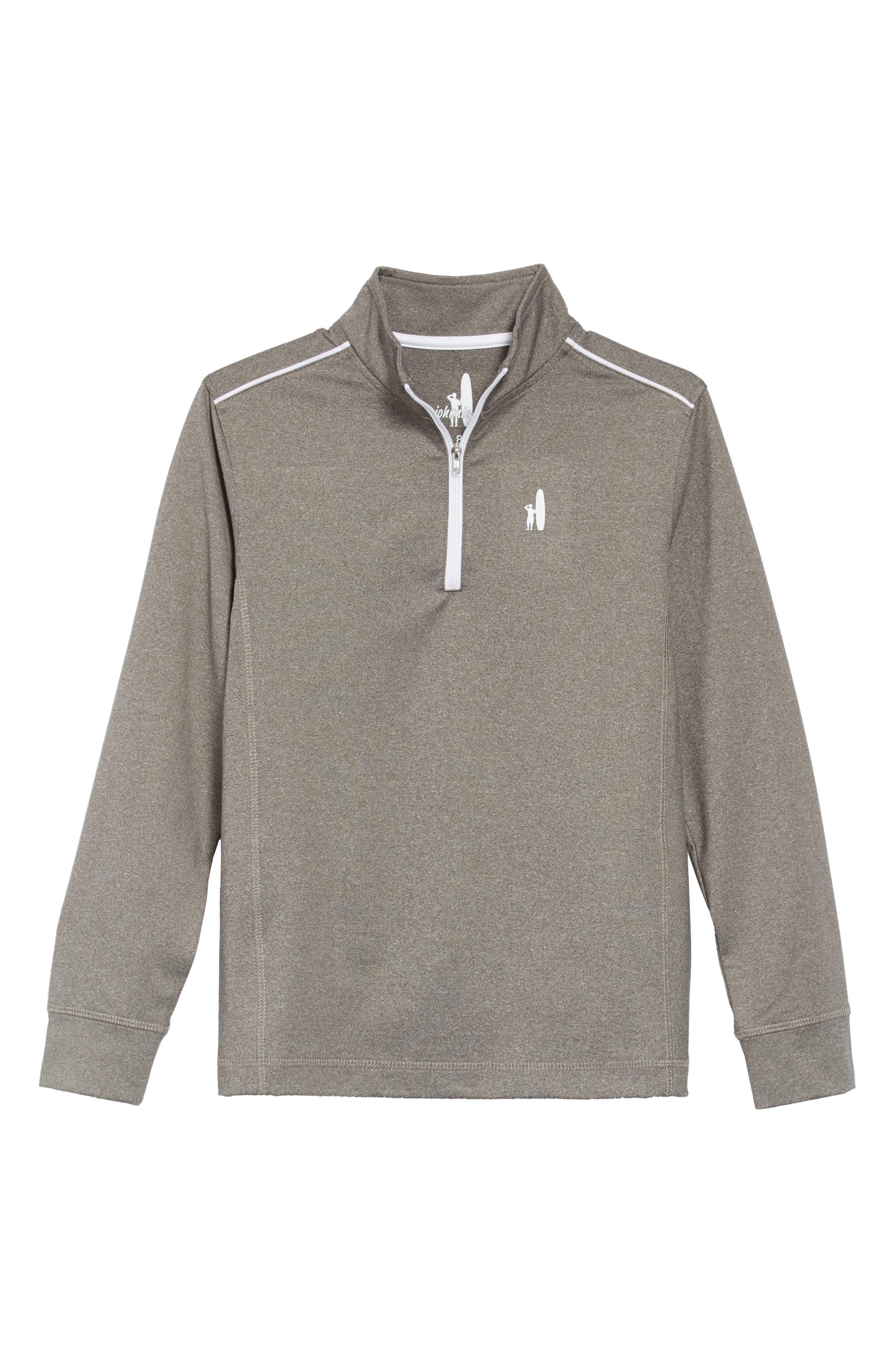 Boys JohnnieO Lammie Quarter Zip Pullover Size 16  Red