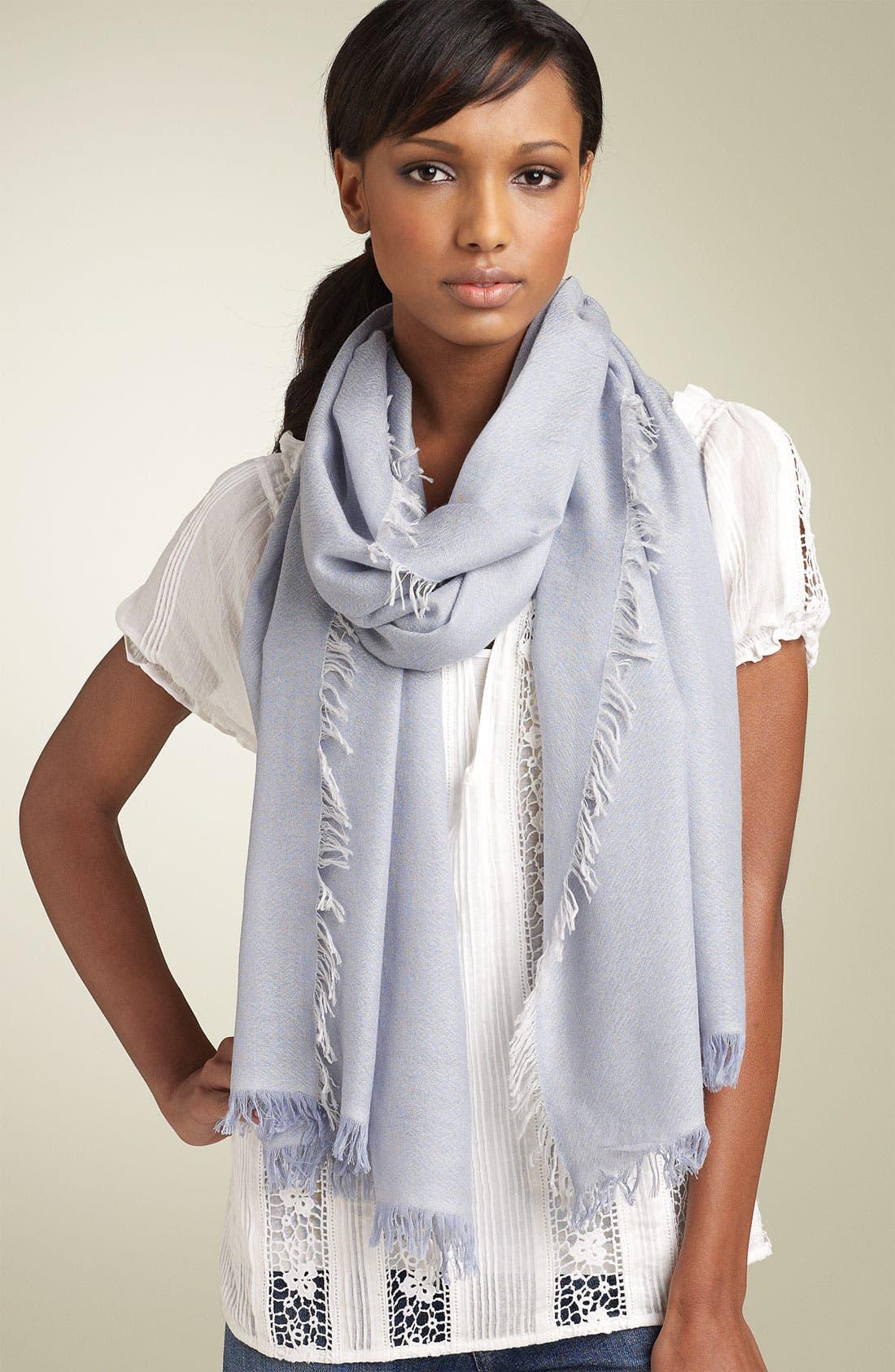 ,                             'Eyelash' Colorblock Cashmere Wrap,                             Main thumbnail 54, color,                             460