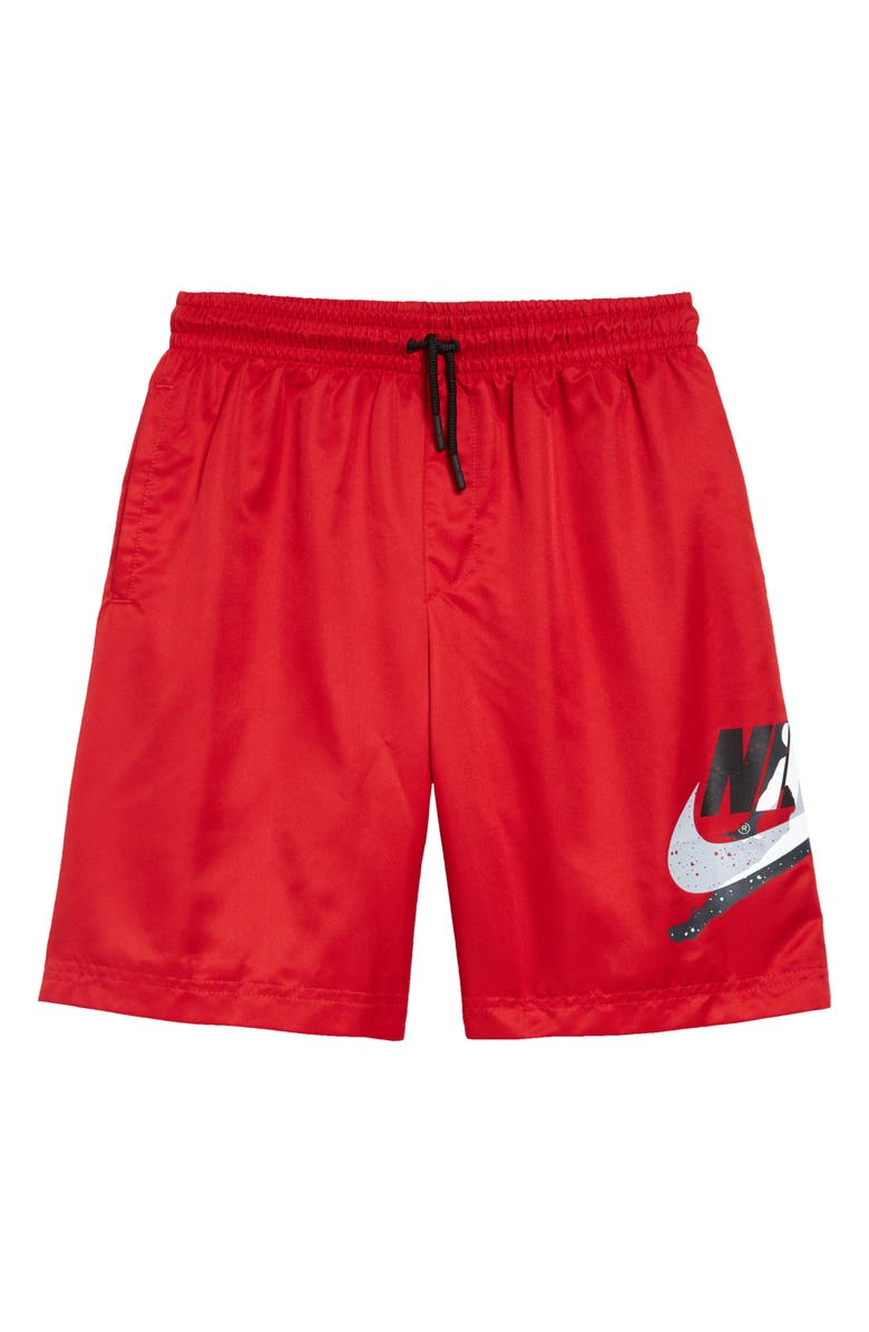 JORDAN Jumpman Poolside Hybrid Athletic Shorts, Main, color, GYM RED