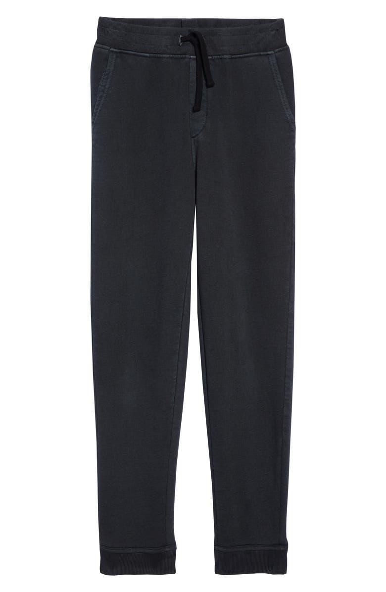 TUCKER + TATE Essential Fleece Pants, Main, color, BLACK