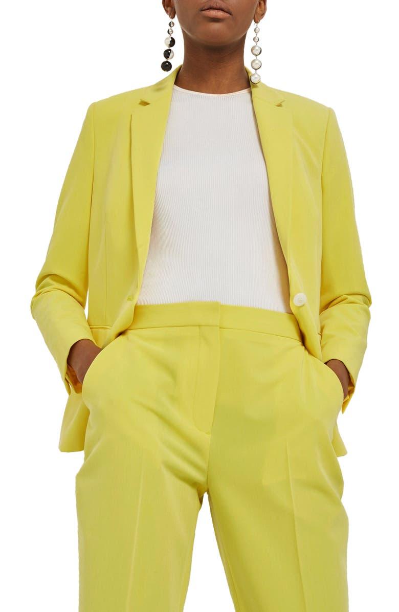 TOPSHOP Longline Suit Jacket, Main, color, 740