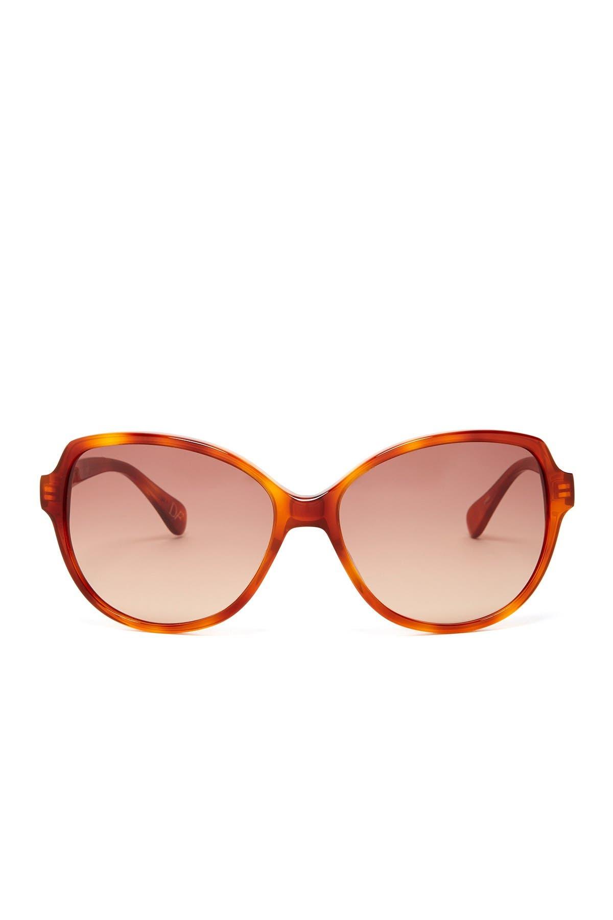 Image of Diane von Furstenberg 56mm Oversized Sunglasses