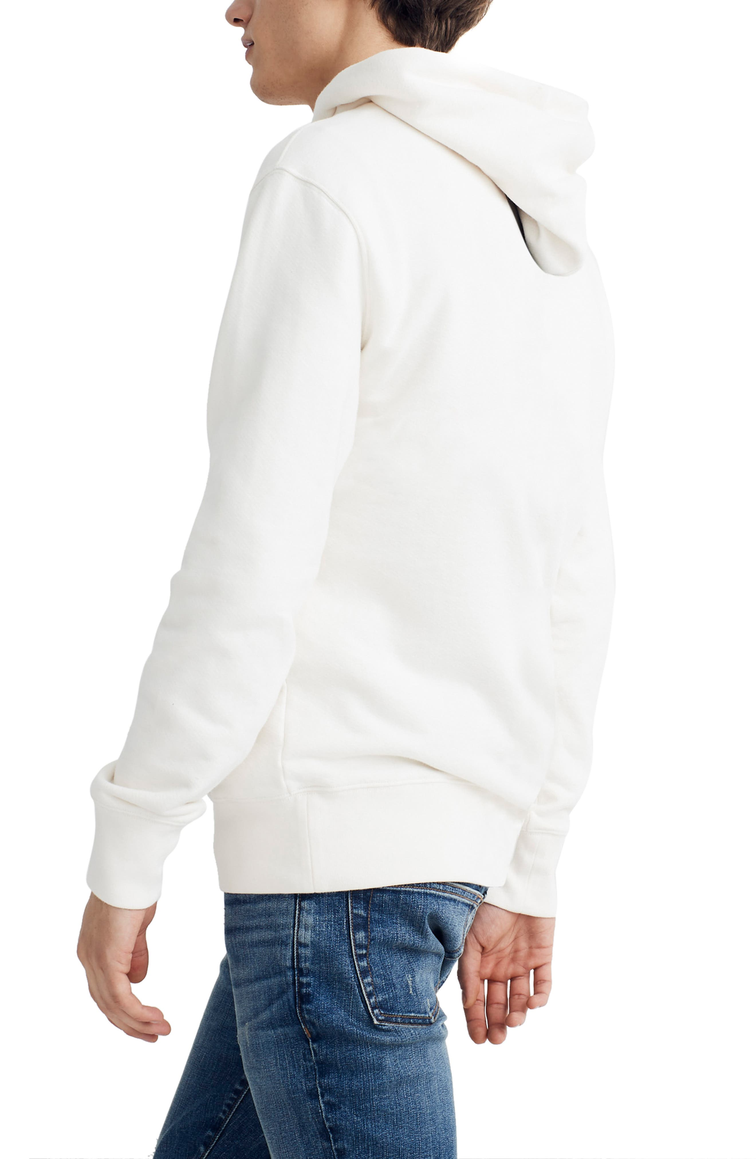 ,                             Hooded Sweatshirt,                             Alternate thumbnail 3, color,                             PEARL IVORY