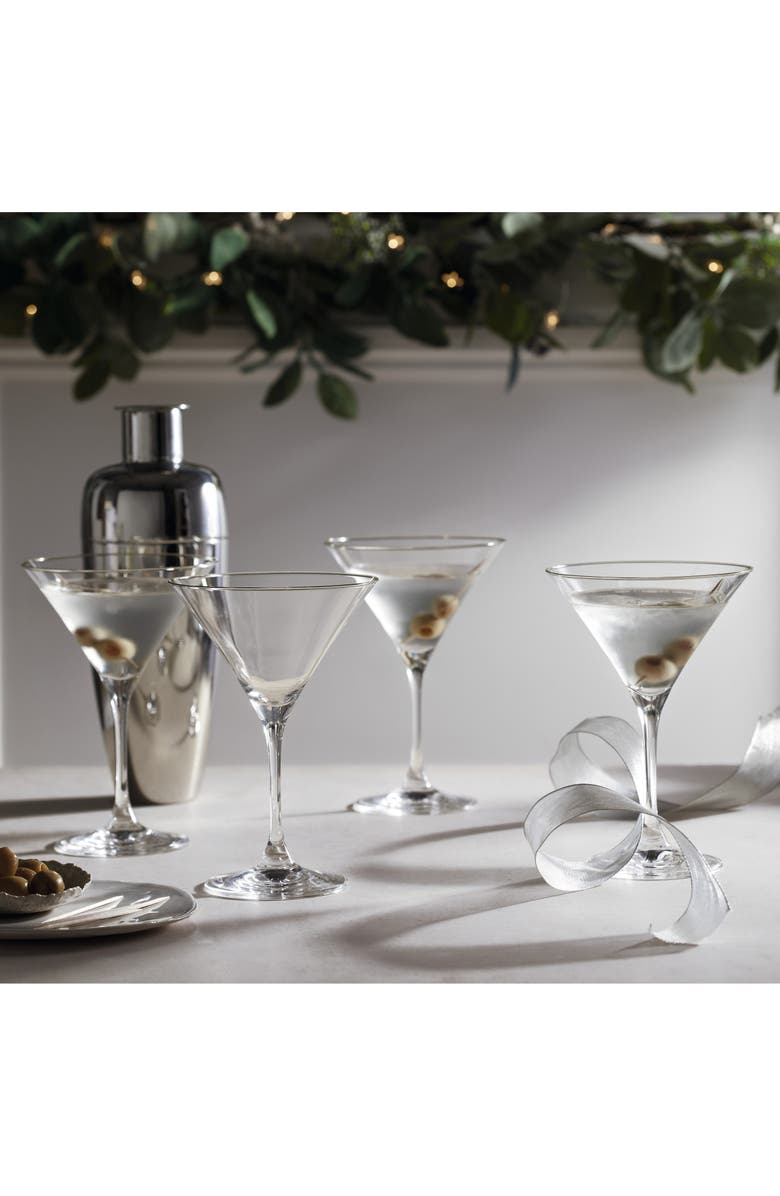THE WHITE COMPANY Set of 4 Martini Glasses, Main, color, CLEAR