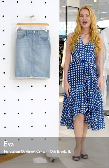 Riley Frayed Denim Skirt, sales video thumbnail