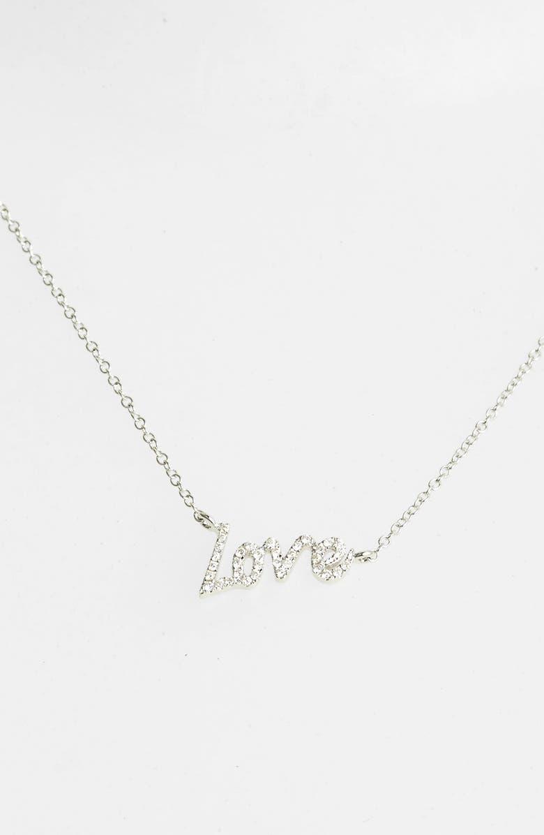 MEIRA T Dazzling Diamond Love Pendant Necklace, Main, color, 711
