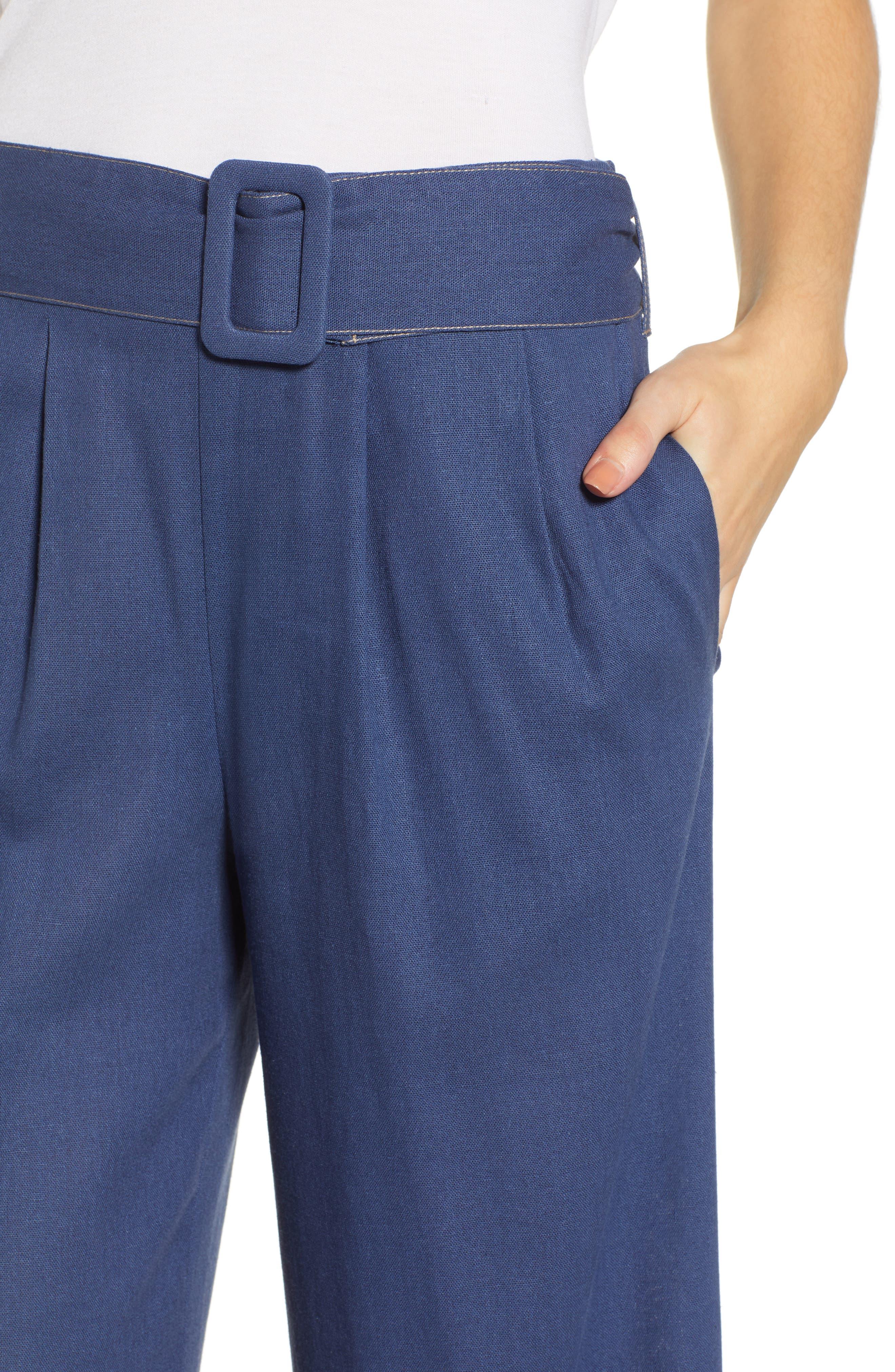 ,                             Belted Wide Leg Pants,                             Alternate thumbnail 5, color,                             400