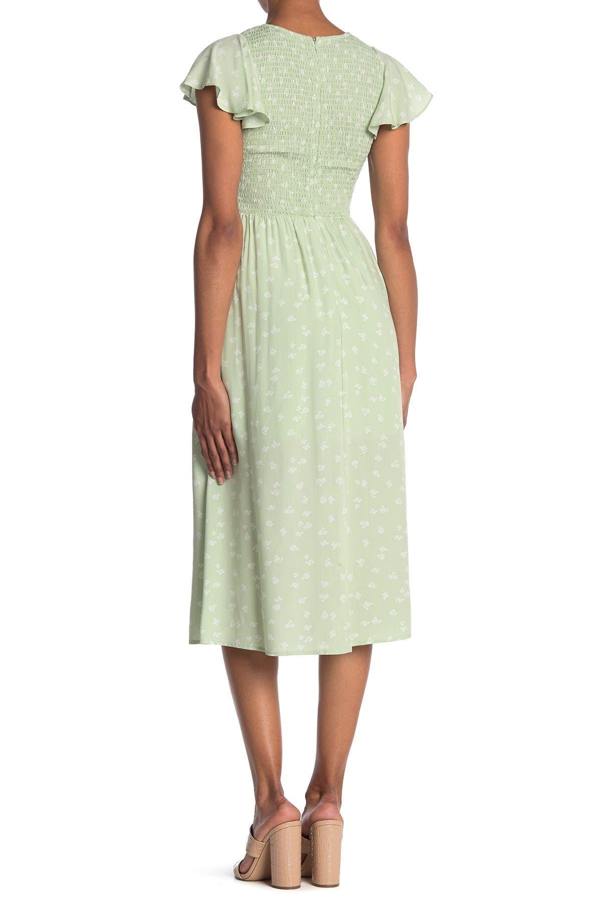 Image of Elodie Floral Smocked Midi Dress