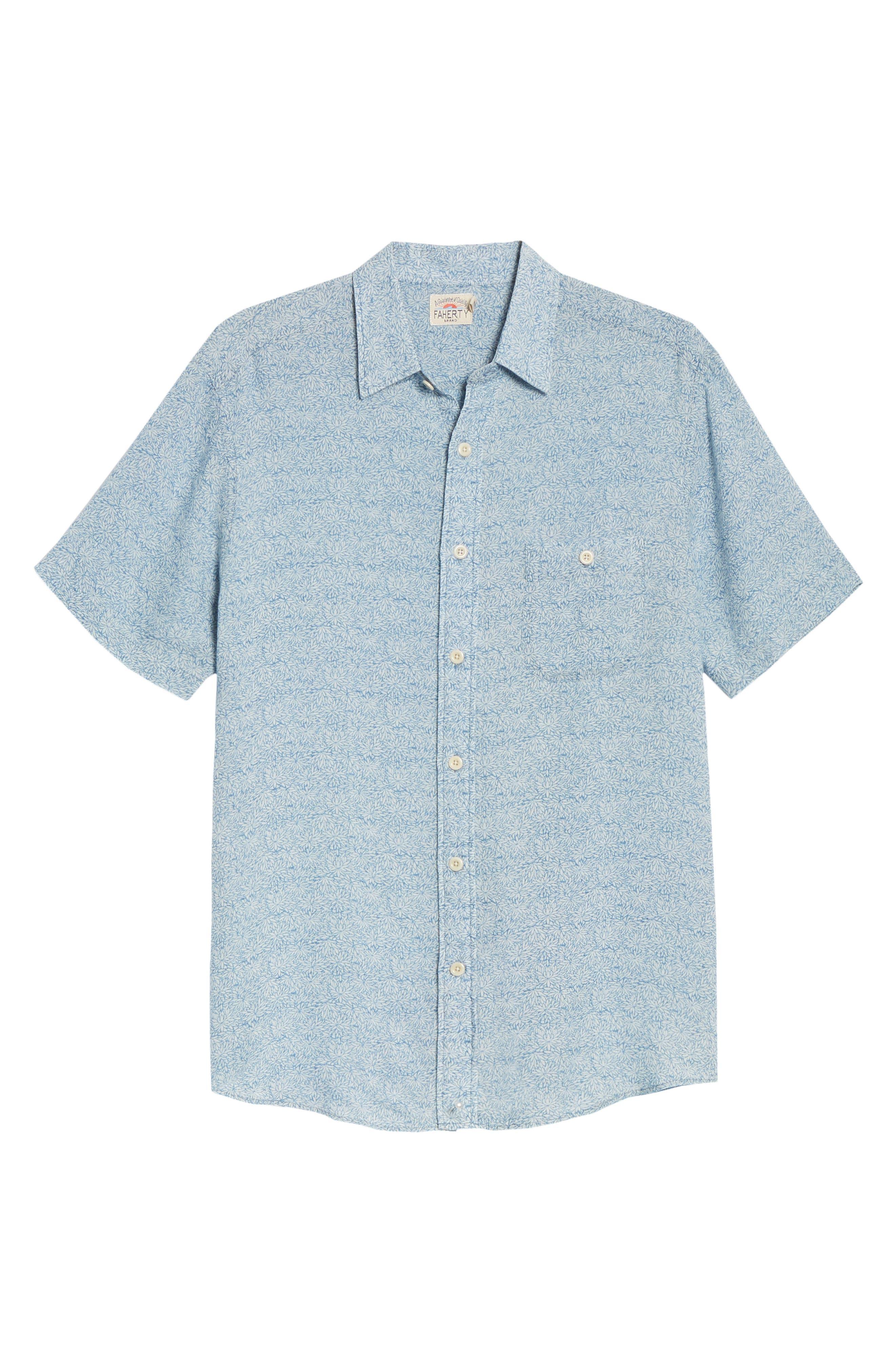 Playa Short Sleeve Button-Up Floral Shirt