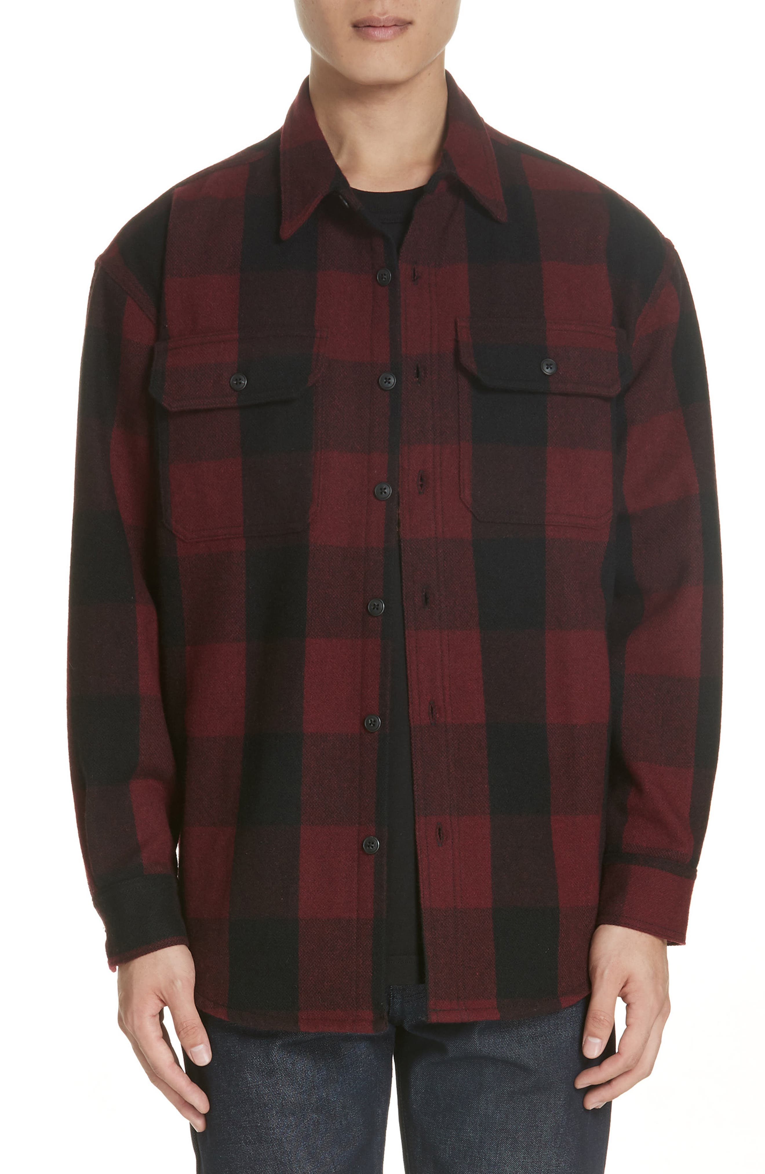 Noon Goons Check Flannel Shirt, Red