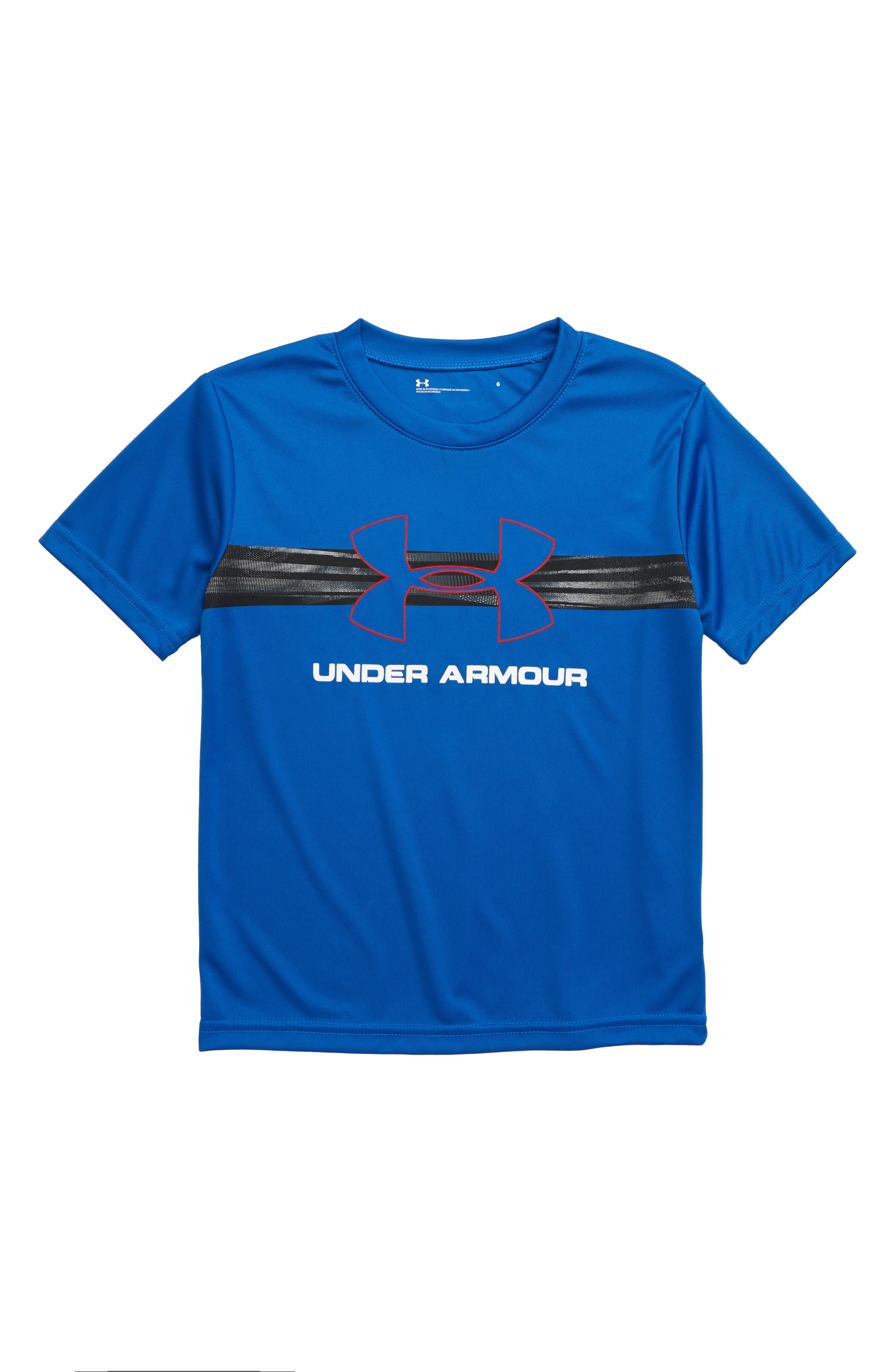 Boys Under Armour Logo Graphic Heatgear TShirt