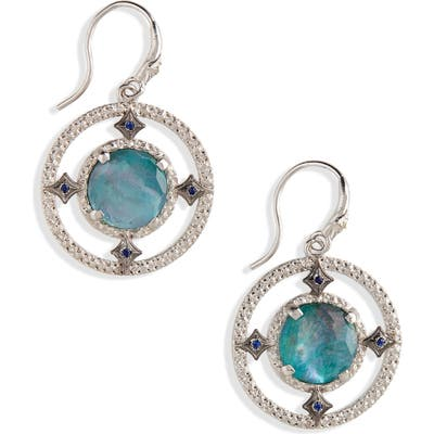 Armenta New World Doublet Open Drop Earrings