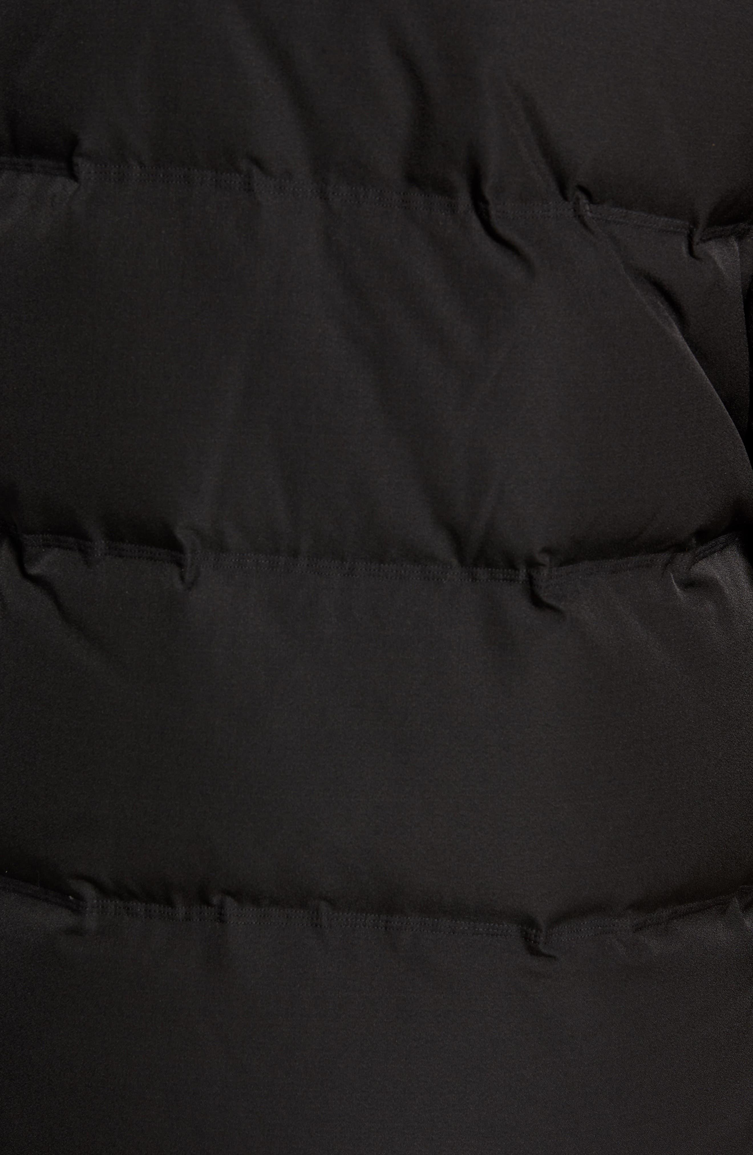 ,                             Genuine Fox Fur Trim Down Parka,                             Alternate thumbnail 5, color,                             BLACK
