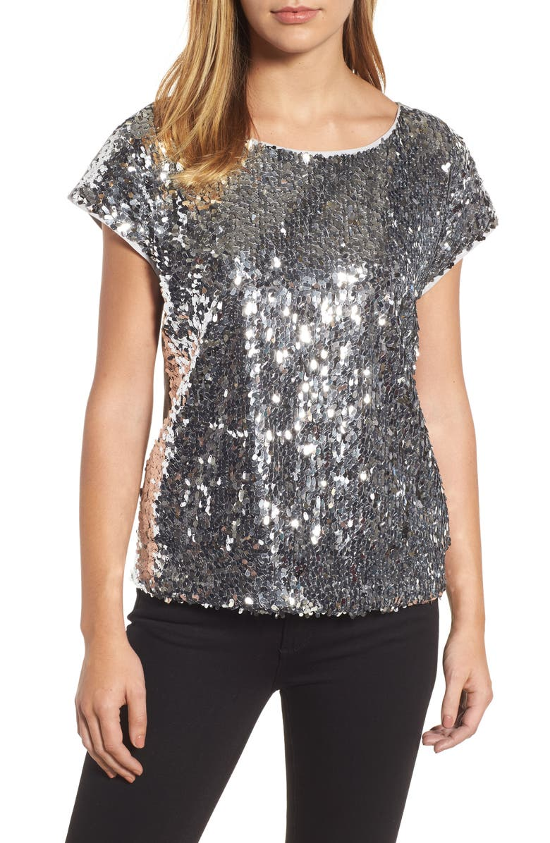 VINCE CAMUTO Sequin Front Top, Main, color, 046