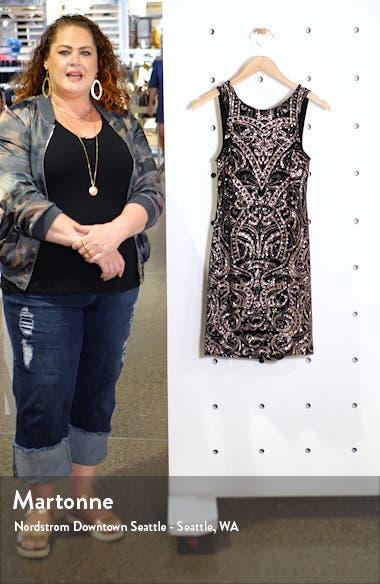 Glitter Knit Body-con Sheath Dress, sales video thumbnail