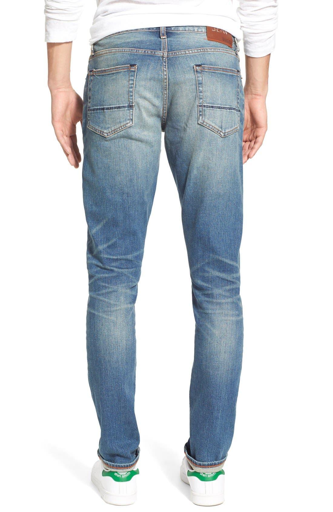 ,                             'Jim' Skinny Fit Selvedge Jeans,                             Alternate thumbnail 3, color,                             421