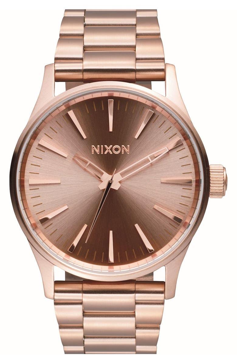 NIXON 'Sentry' Bracelet Watch, 38mm, Main, color, 711