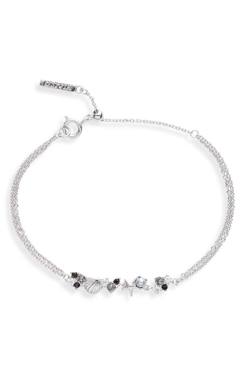 OLIVIA BURTON Sea Chain Bracelet, Main, color, SILVER