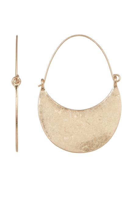 Image of Melrose and Market Half Crescent Hoop Earrings