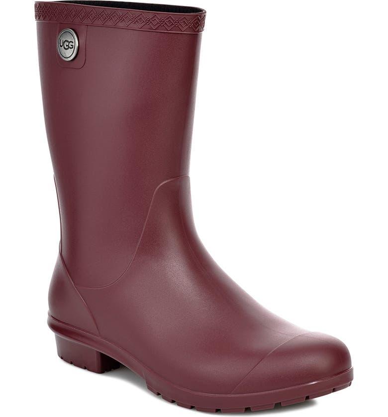 UGG<SUP>®</SUP> Sienna Rain Boot, Main, color, GARNET RUBBER