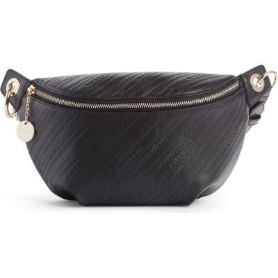 Givenchy Bond Logo Embossed Leather Belt Bag - Black