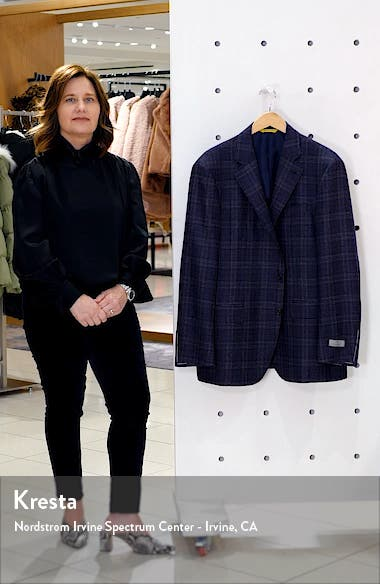 Kei Trim Fit Plaid Wool Sport Coat, sales video thumbnail