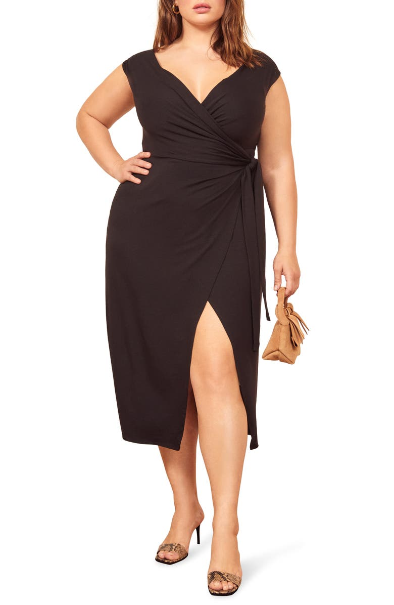 Reformation Sage Wrap Dress Regular Plus Size