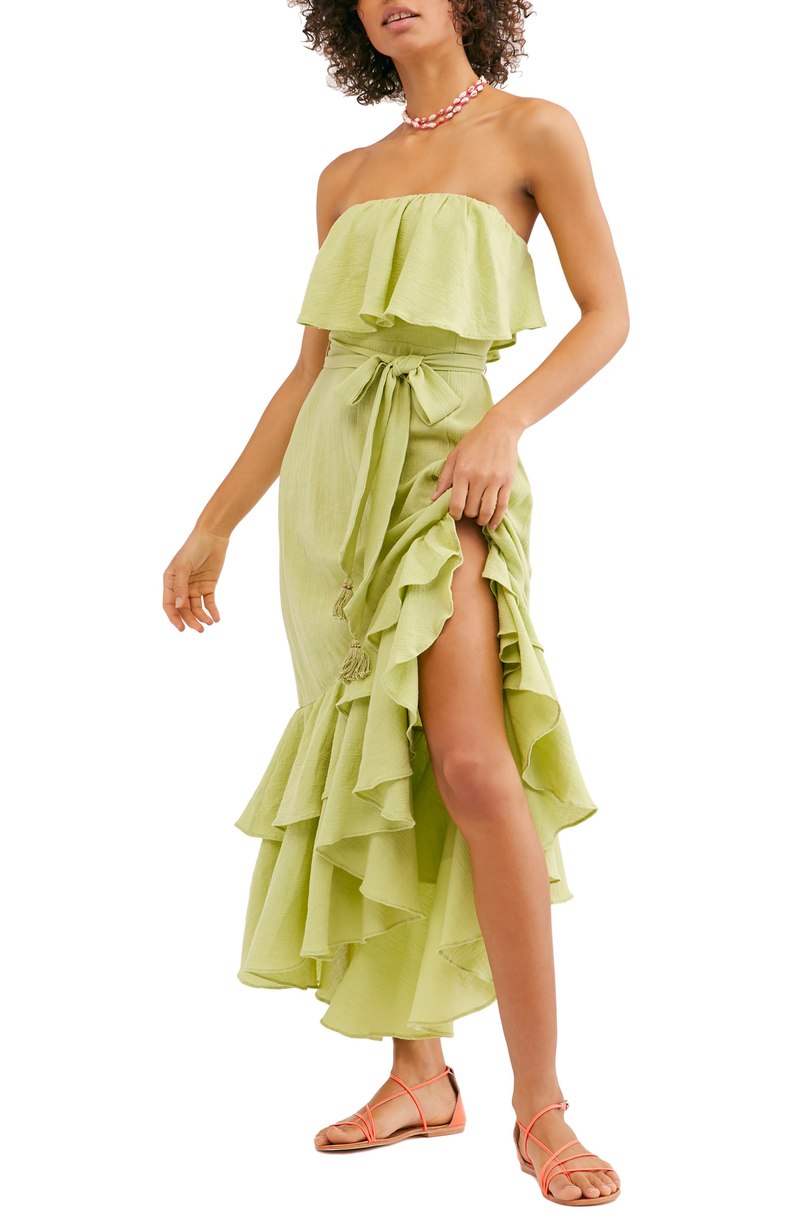 Endless Summer By Free People Tavia Strapless Maxi Dress, Green