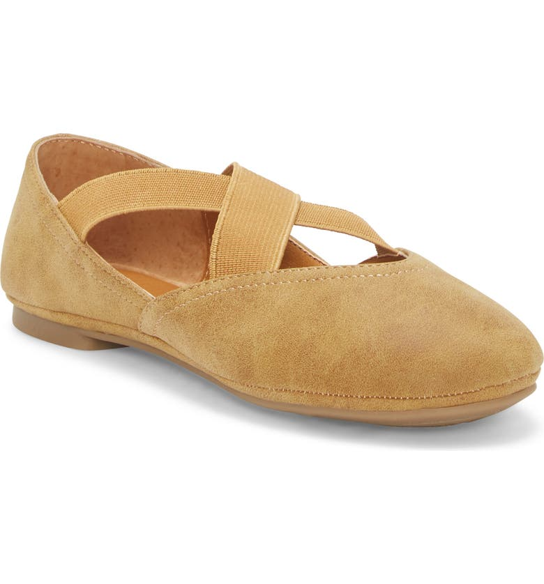 LUCKY BRAND Crisscross Flat, Main, color, TAN