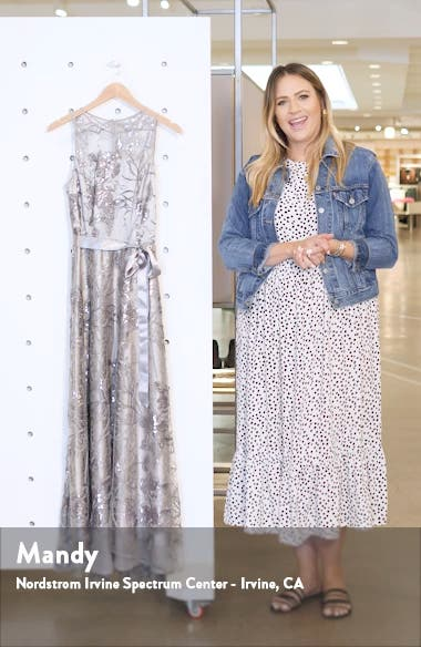 Sequin Embroidered High/Low Gown, sales video thumbnail