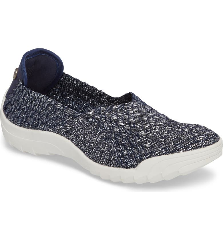 BERNIE MEV. Rigged Fly Slip-On Sneaker, Main, color, NAVY SHIMMER