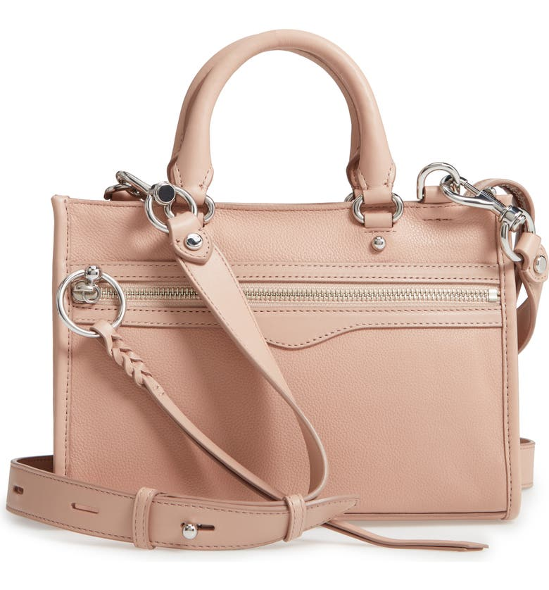 REBECCA MINKOFF Micro Bedford Leather Satchel, Main, color, DOE