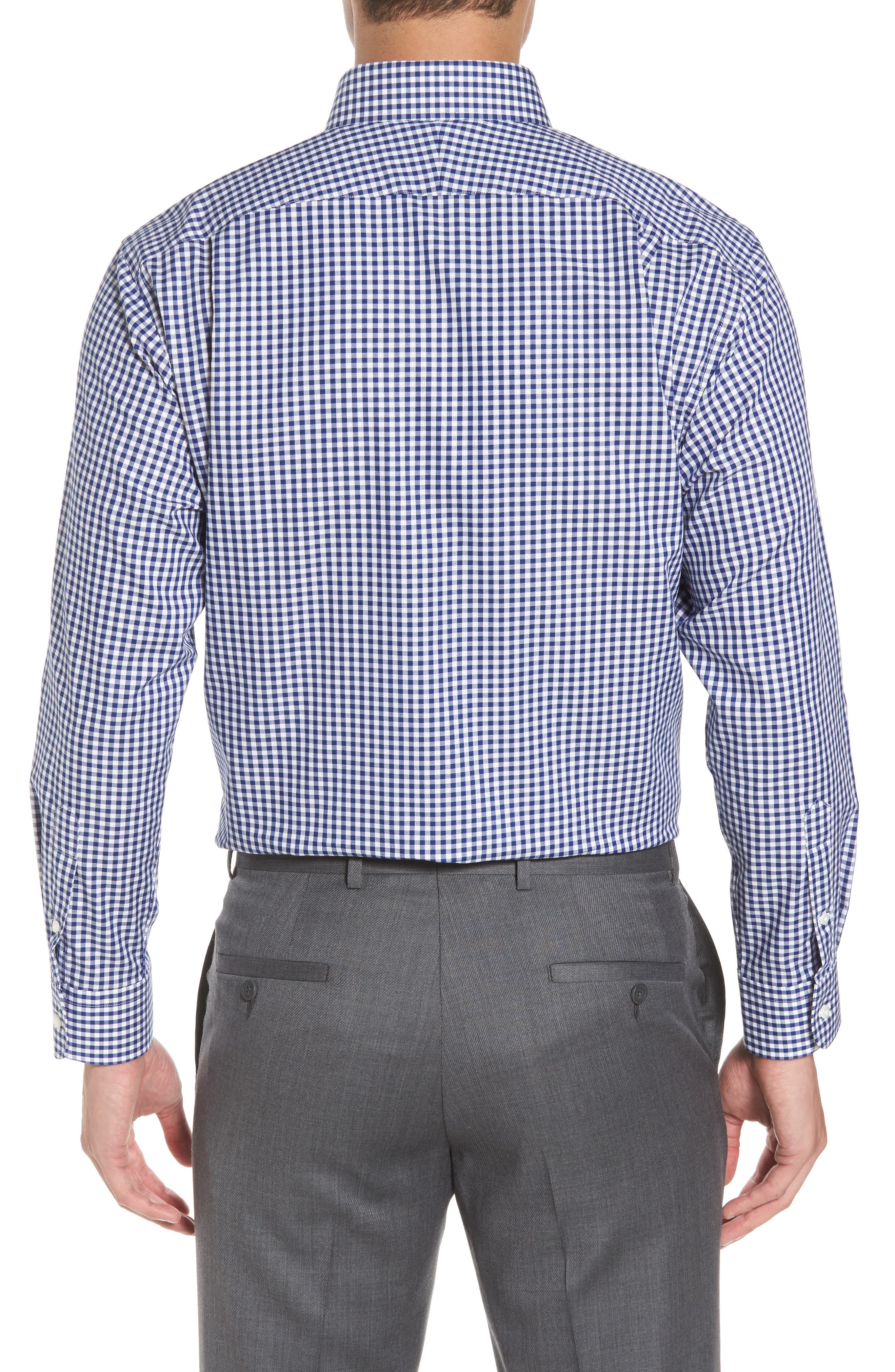 ,                             Traditional Fit Non-Iron Gingham Dress Shirt,                             Alternate thumbnail 10, color,                             401