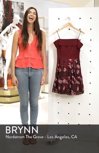 Embellished Cold Shoulder Fit & Flare Dress, sales video thumbnail