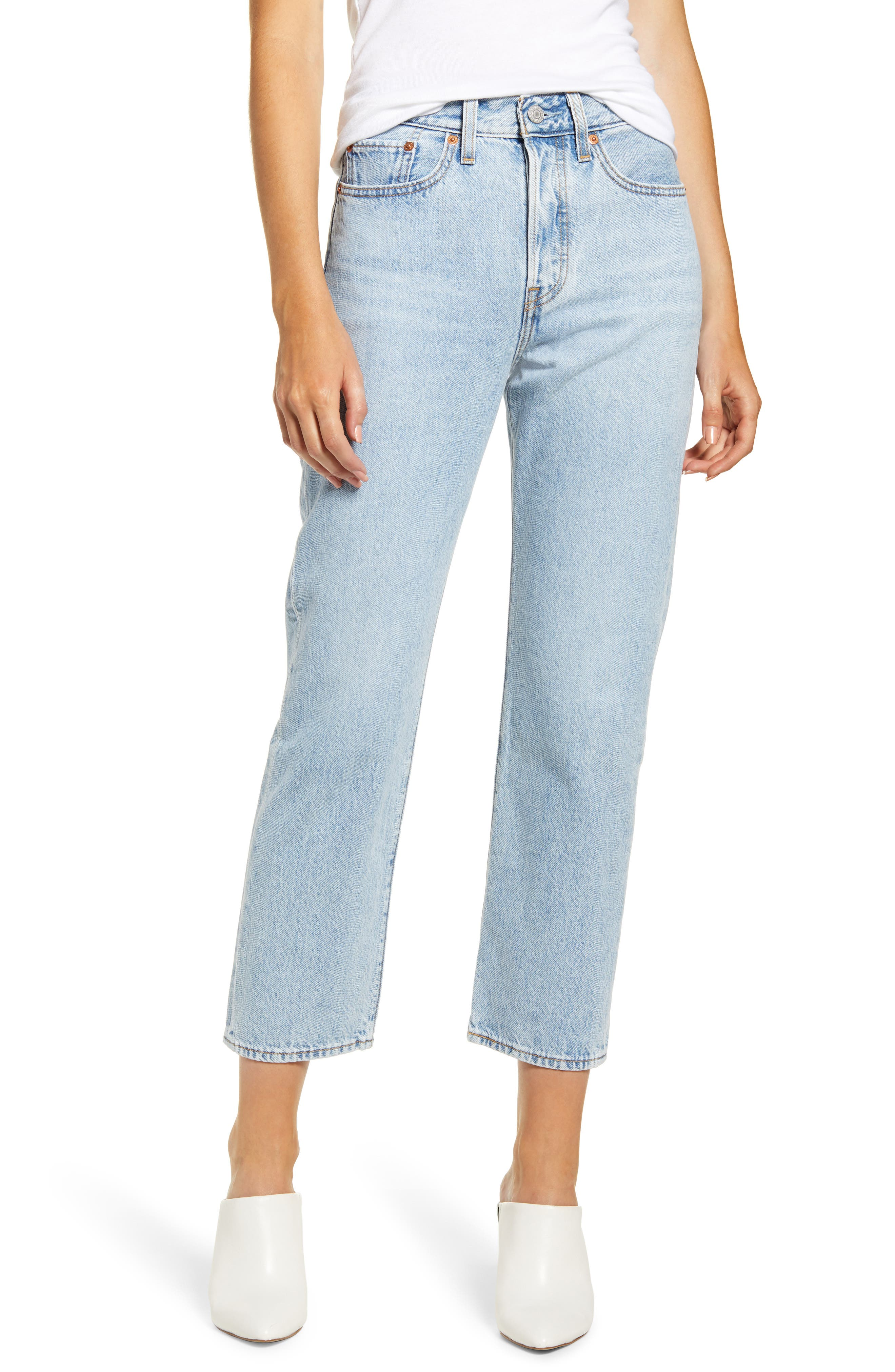 Levi's® Wedgie High Waist Crop Straight Leg Jeans (Mongomery Baked)