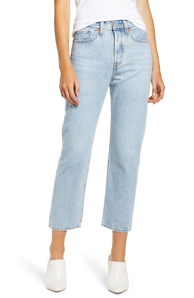 LEVI'S<SUP>®</SUP> Wedgie High Waist Crop Straight Leg Jeans, Main, color, MONTGOMERY BAKED