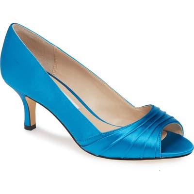 Nina Chezare Peep Toe Pump, Blue