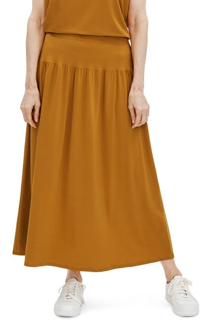 Image of Eileen Fisher Fine Jersey Flare Midi Skirt