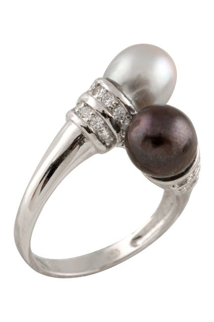 Image of Splendid Pearls 7-8mm Dyed Double Cultured Freshwater Pearl Ring