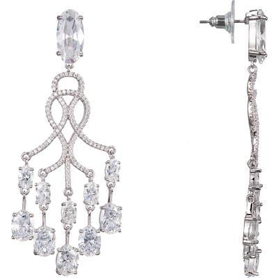 Nina Pave Chandelier Earrings