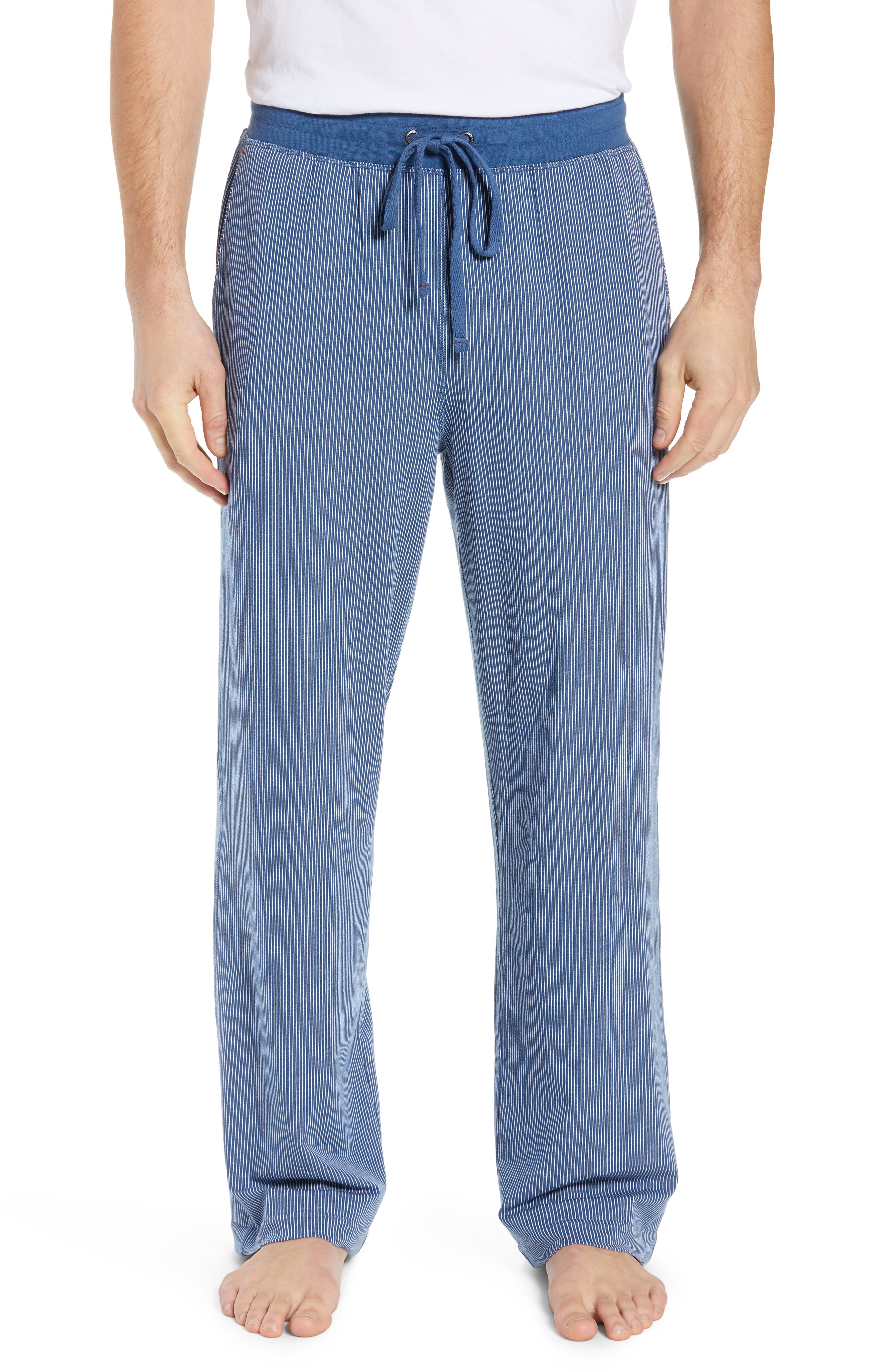 Daniel Buchler Stretch Cotton & Modal Pajama Pants, Blue