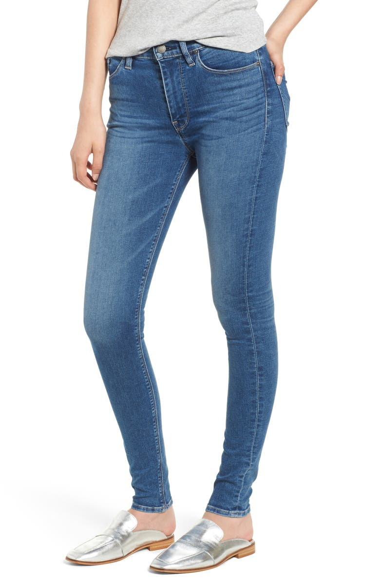 HUDSON JEANS Barbara High Waist Super Skinny Jeans, Main, color, AYON