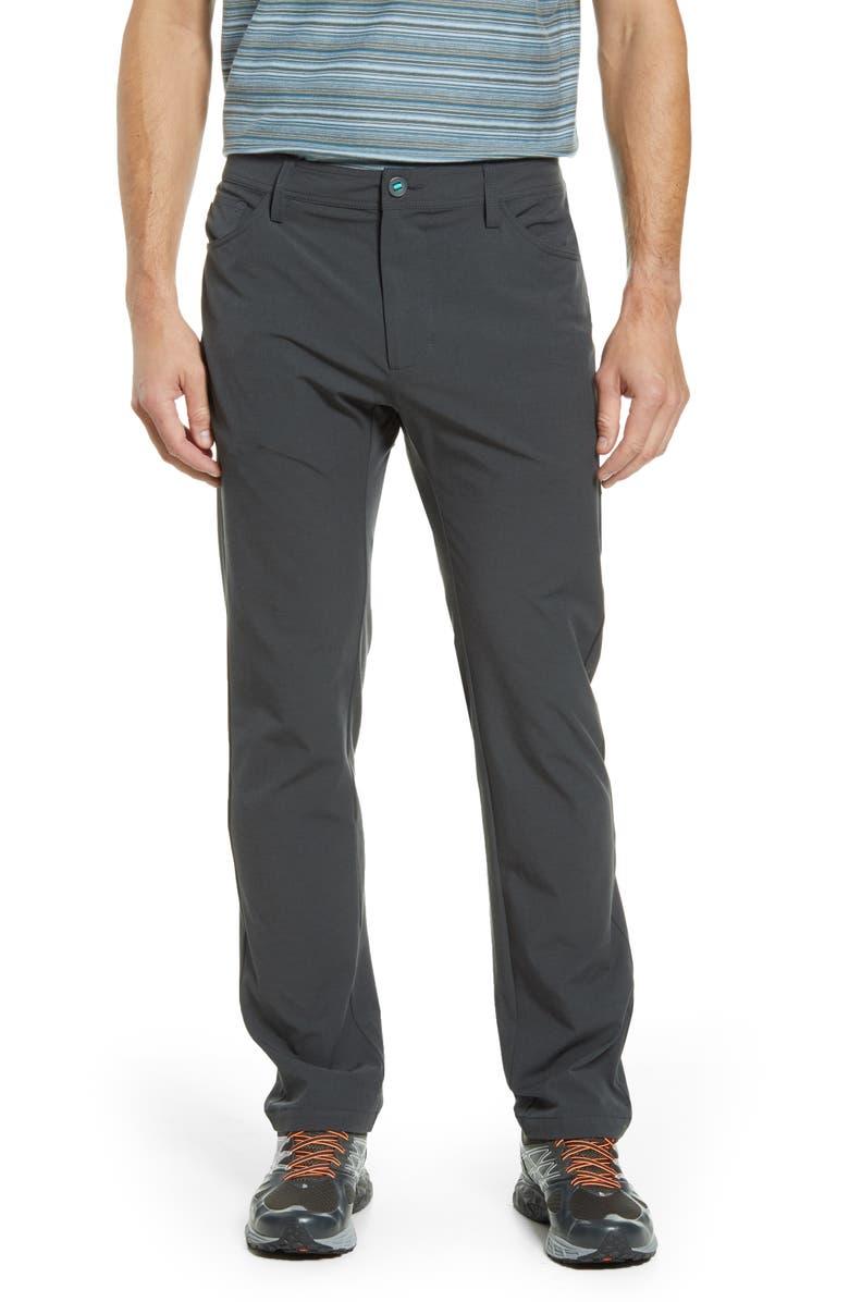 LINKSOUL Boardwalker Five Pocket Pants, Main, color, BLACK